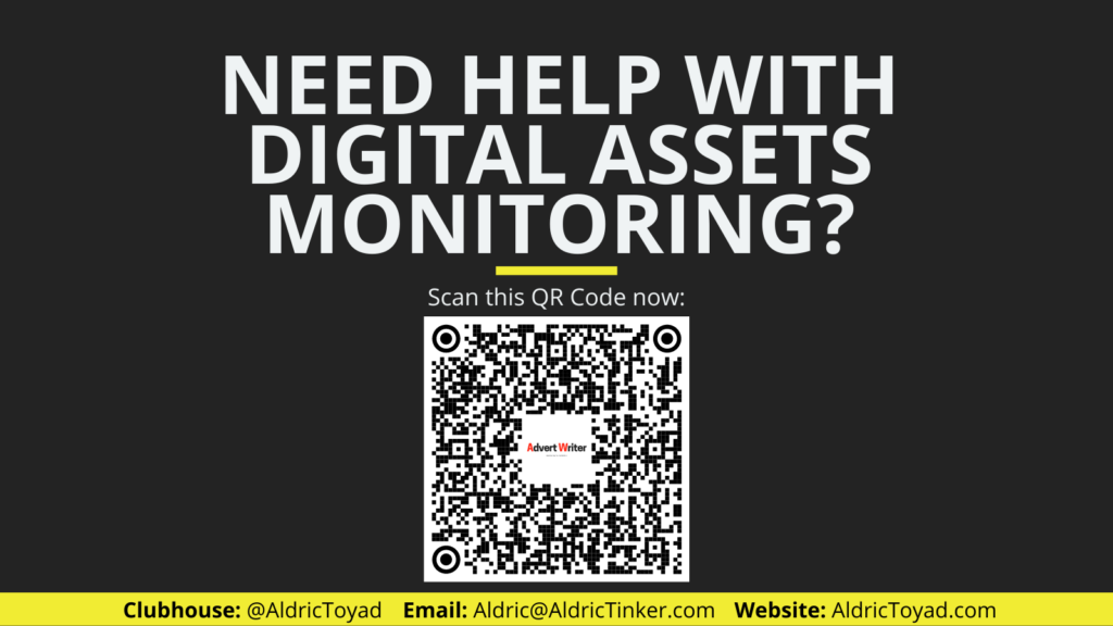 Scan the QR code if you need help with your digital assets monitoring.